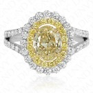 2.22 Carat Yellow Diamond Ring in 18K Two-Tone Gold
