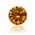 0.54 Carat Round Brilliant Fancy Intense Orange Yellow Diamond