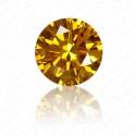 0.46 Carat Round Brilliant Fancy Vivid Orange Yellow Diamond