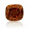 1.25 Carat Cushion Cut Natural Fancy Deep Brownish Orange Diamond