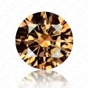 1.37 Carat Round Brilliant Fancy Dark Orangy Brown Diamond
