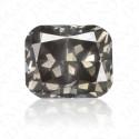 1.03 Carat Cushion Cut Fancy Dark Grey Diamond