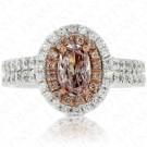 1.32 Carat Fancy Light Purplish Pink Diamond Ring in 18K White Gold